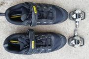 Pédales automatique + chaussures VTT état neuf