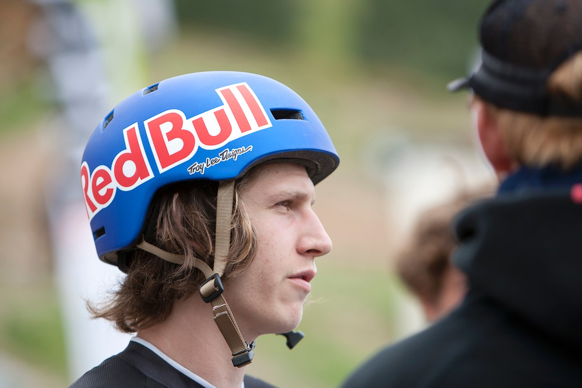 Brandon et son casque nickel
