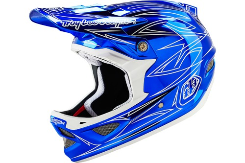 Troy Lee Designs D3 COMPOSITE PINSTRIPE 2 BLUE CHROME