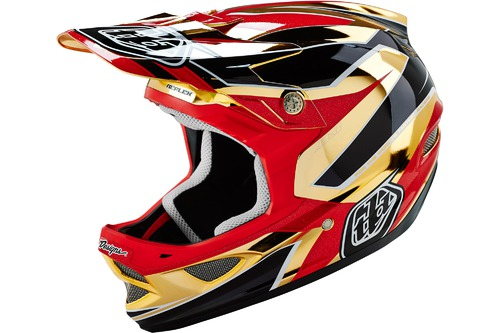 Troy Lee Designs D3 COMPOSITE REFLEX GOLD CHROME