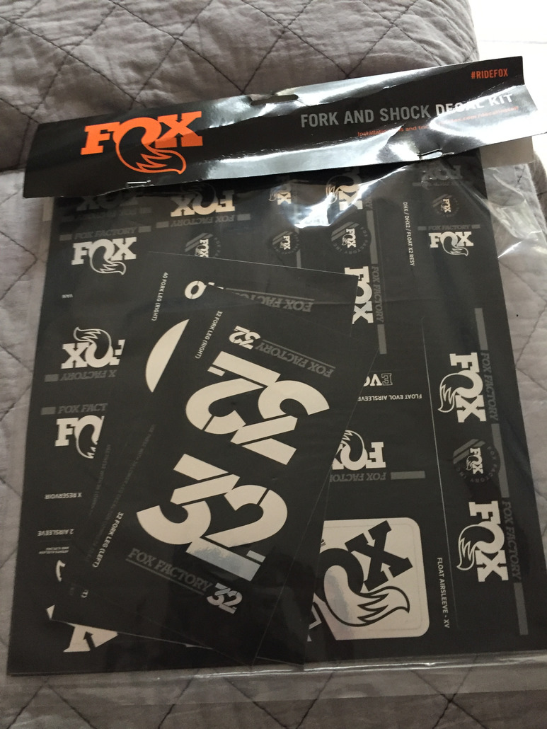 Fox Racing Fork and Shock Decal Kit