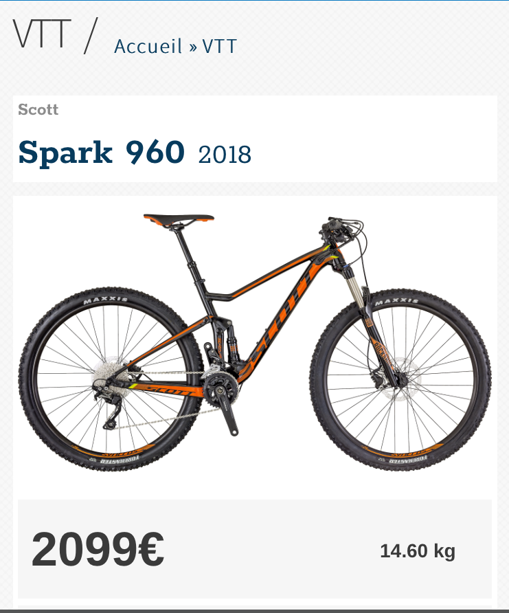 SCOTT SPORTS SPARK 960