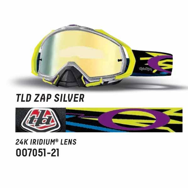 Oakley mayhem pro mx troy lee designs zap silver