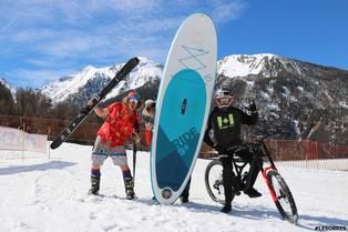 Vélo et ski de printemps