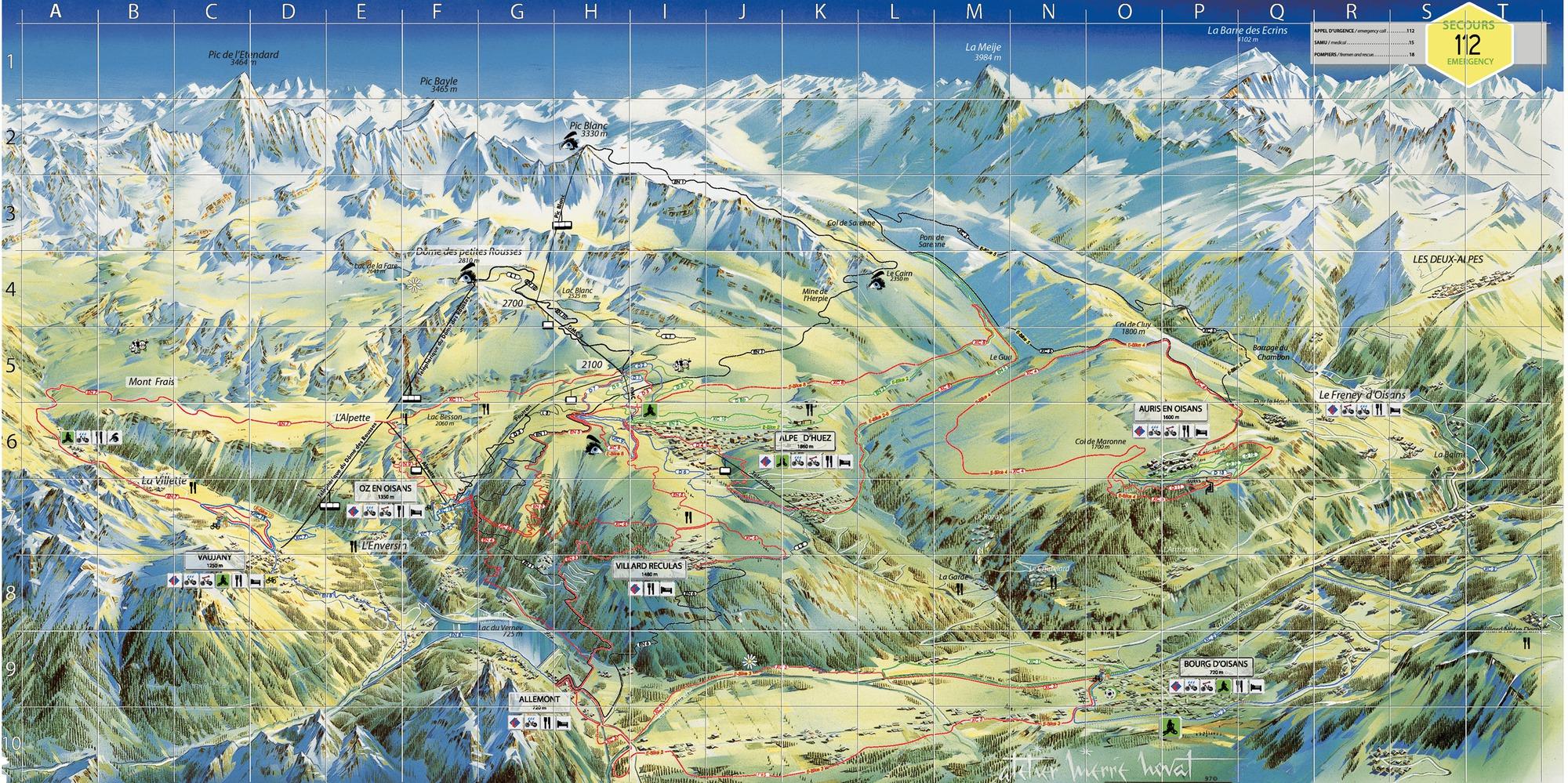 Plan Piste Alpe Huez 2018