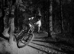 Dusty corner at Evo bike park