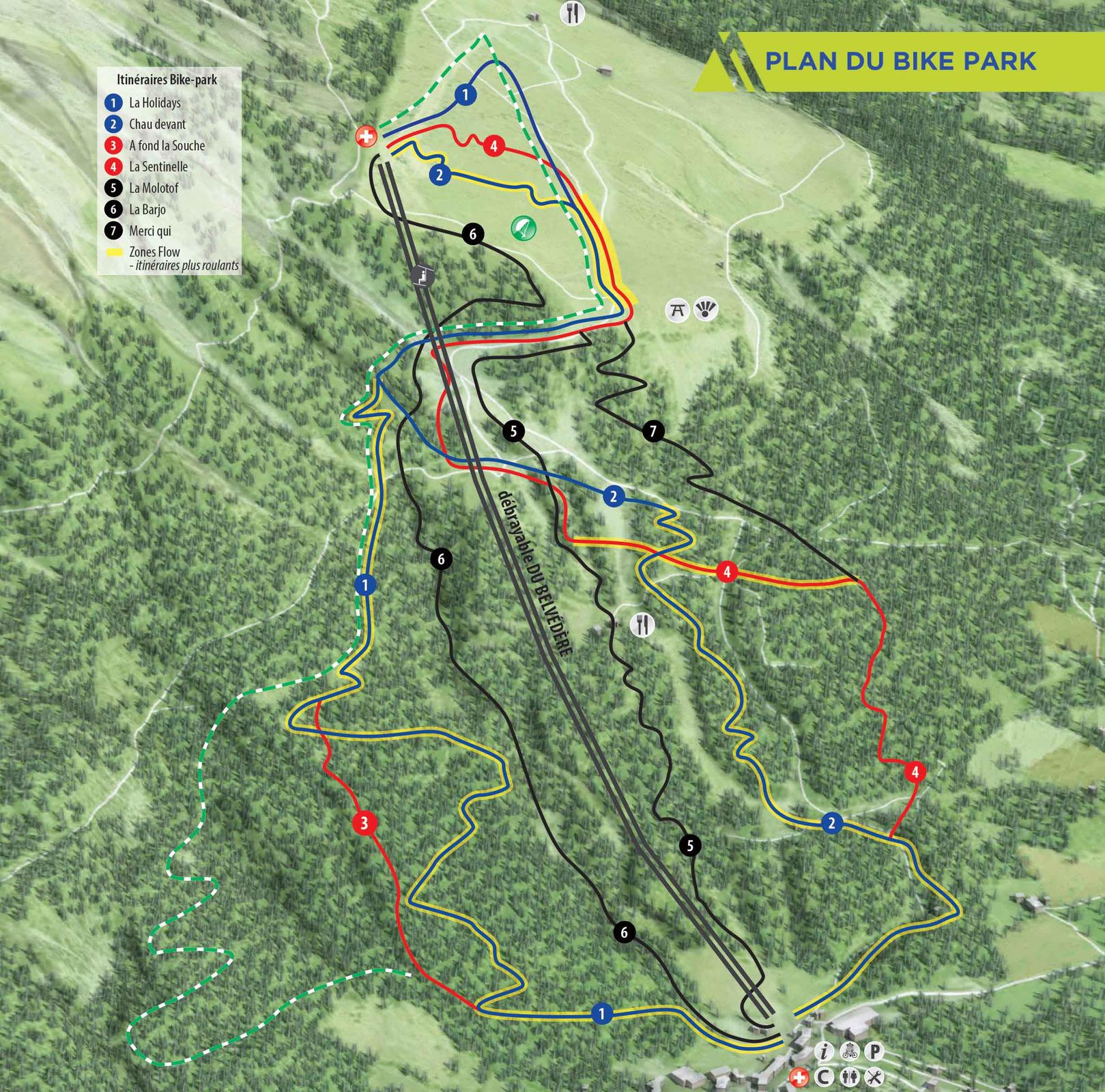 Montclar bikepark plan