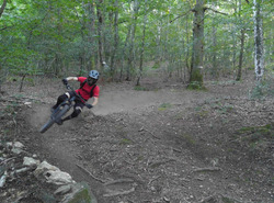 Looking for speed through the dusty berms